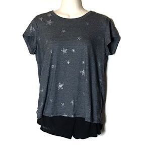 Anthropologie |Michael Stars Grey  Star T-shirt